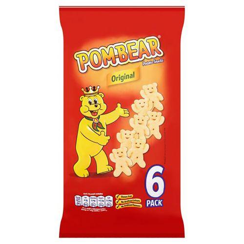 Tesco Pom Bear Original Potato Snacks 6 X 15G