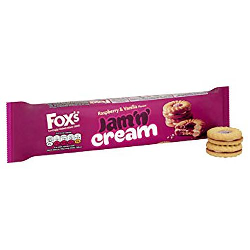 Tesco Fox's Jam Sandwich Cream Biscuit 150G
