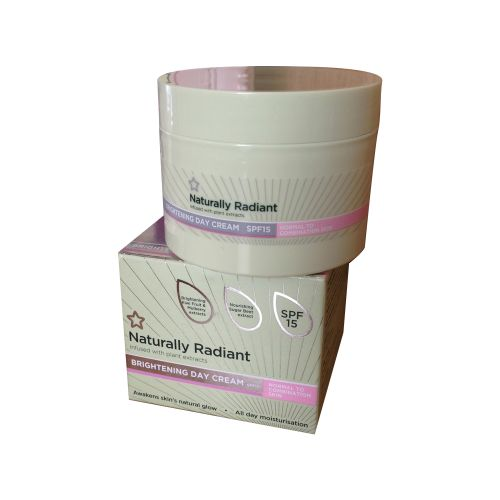 Superdrug Naturally Radiant Brightening Day Cream Normal to Combination Skin