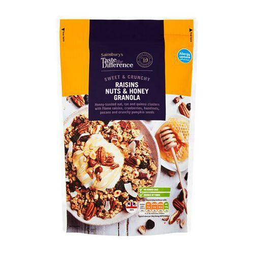 Sainsbury's Taste the Difference Sweet & Crunchy Raisins, Nuts & Honey Granola