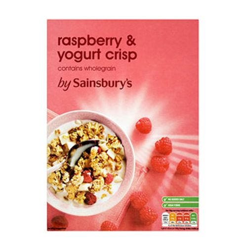 Sainsbury's Raspberry & Yogurt Crisp 500g