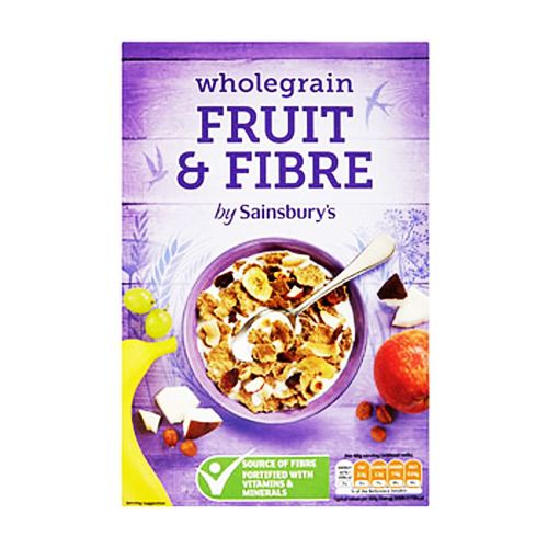 Sainsbury's Wholegrain Fruit & Fibre Cereal 500g