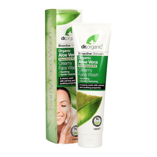 Dr Organic Face Wash Creamy  Aloe Vera 150ml