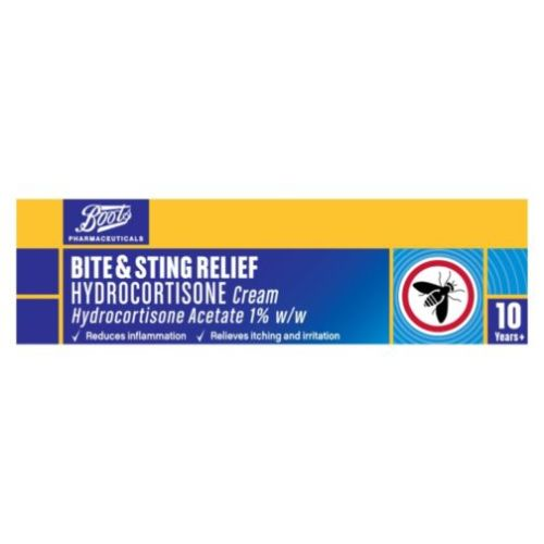 Boots Pharmaceuticals Bite & Sting Relief Hydrocortisone Cream - 10g