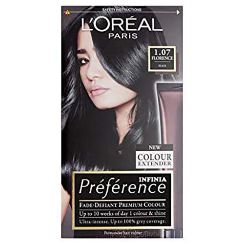 Loreal Paris Preference Infinia Hair Dye 1.07 Florence Black