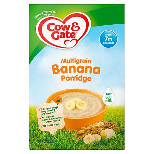 Cow & Gate 7 Month Multigrain Banana Porridge Packet