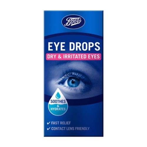Boots Eye Drops Dry & Irritated Eyes 10ml