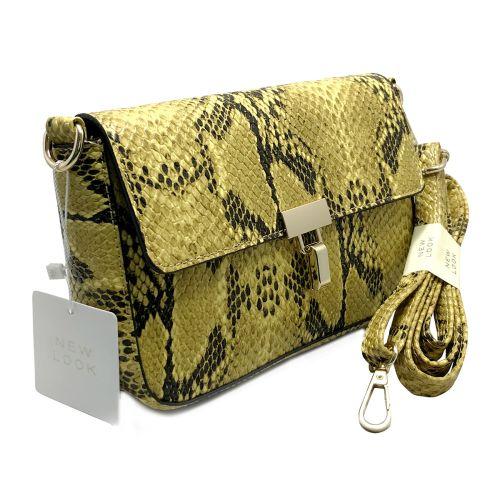 New Look Mustard Faux Snake Cross Body Bag