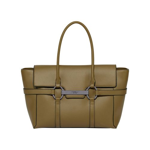 Fiorelli Barbican Large Flapover Sachel Bag with Shoulder Strap - Olive