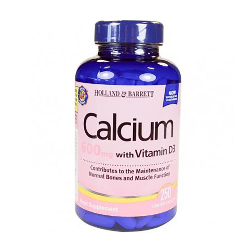 Holland & Barrett Calcium 600mg with Vitamin D3 - 250 Caplets