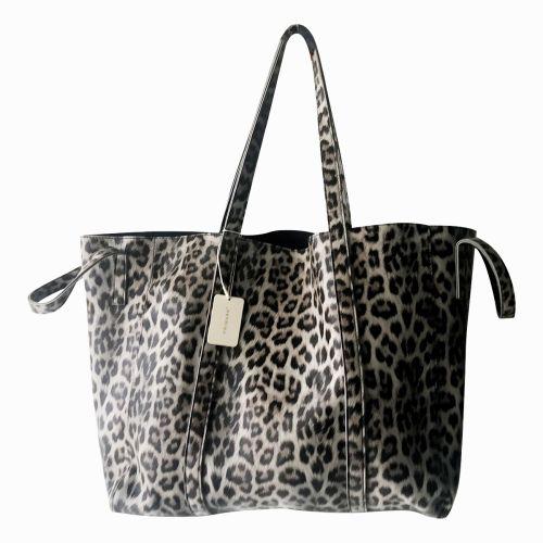 Primark Leopard Pattern Printed Big Shopping Basket Bag