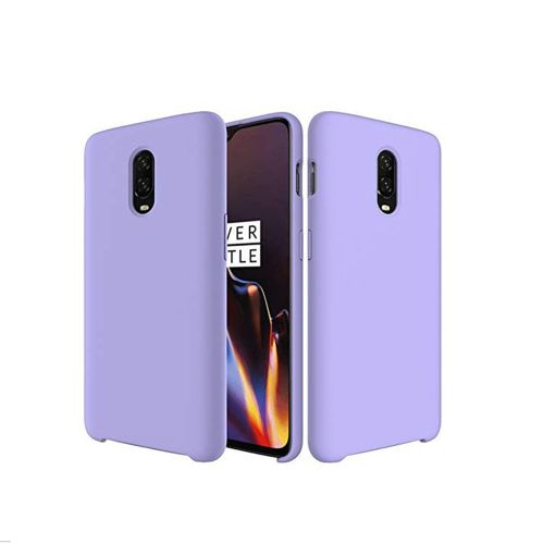 SHUAIFEI Premium Ultra Slim Shockproof Liquid Silicone Soft Rubber Comfortable Protective Case for OnePlus 6T Phone Cases (Color : Purple)