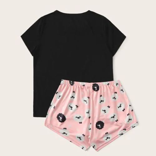 Shein Cartoon Print Pajama Set