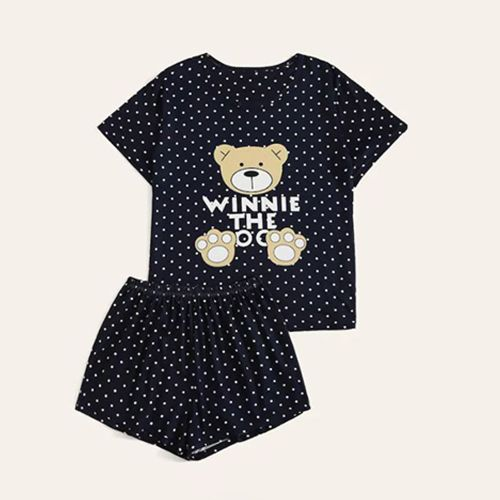 Shein Bear Print Polka Dot Baby Set