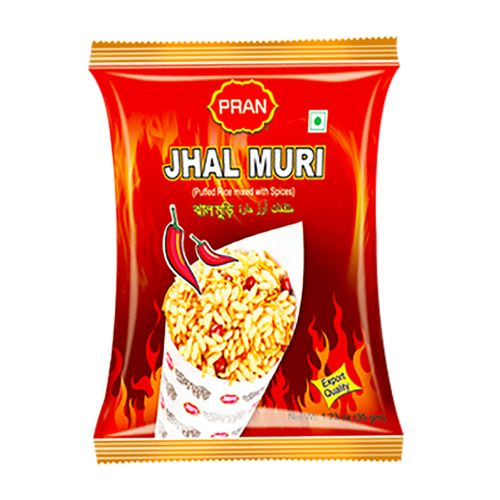 Pran Jhal Muri Hot 7 Spicy Snack 35g x 4