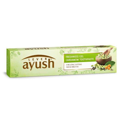 Lever Ayush Freshness gel Cardamom Toothpaste 80g / 150g