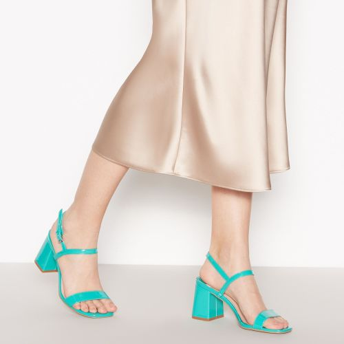Faith  Green Patent 'Donelly' Block Heel Sandals