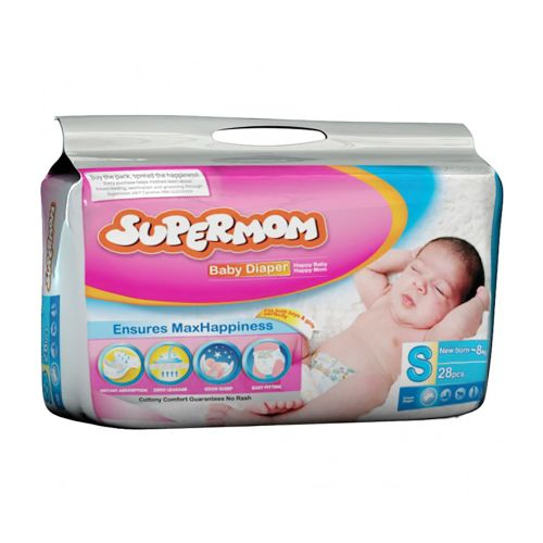 Supermom Baby Diaper Small New Born 0-8 kg S 28 pcs