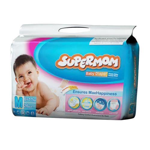 Supermom Baby Diaper Medium 6-11kg M 26 pcs