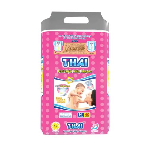 Thai Baby Diapers (Pant Style) M (5-13 kg) 40 pcs