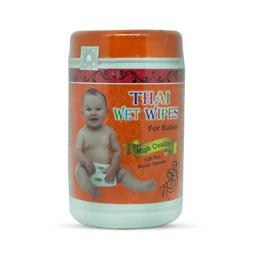Thai Wet Wipes For Babies (Moist Tissue) 120 pcs