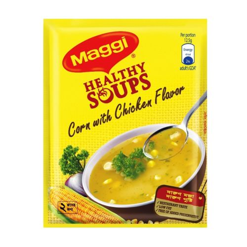 Maggi Healthy Soups Corn with Chicken / Thai / Vegetable Flavour