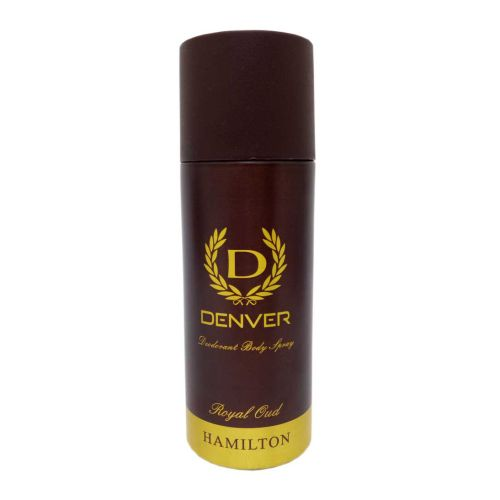 Denver Hamilton Royal Oud Deodorant Body Spray Perfume for Men 165ml