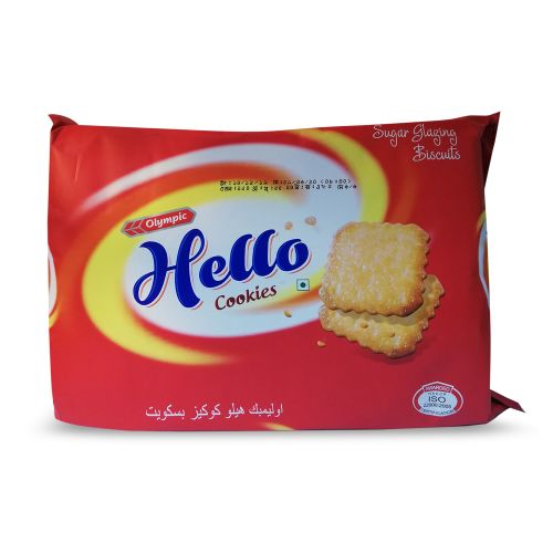 Olympic Hello Cookies Sugar Glazing Biscuits 250g