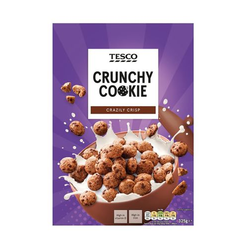 Tesco Crunchy Cookie Breakfast Cereal 325g
