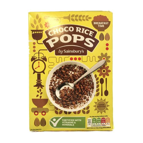 Sainsburys Choco Rice Pops Cereal 550g