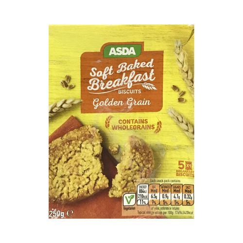 ASDA Soft Baked Breakfast Biscuits Golden Grain