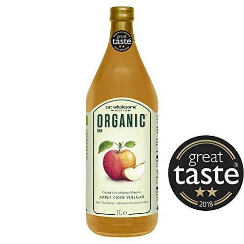 Eat Wholesome Organic Raw Apple Cider Vinegar with The Mother, 1000 ml