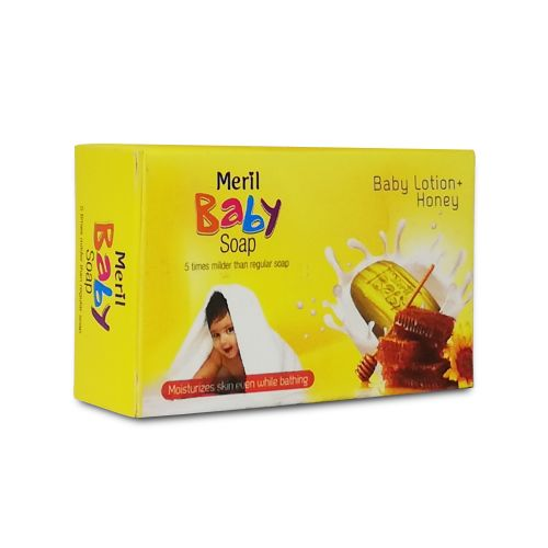 Meril Baby Lotion + Honey Baby Soap 75g