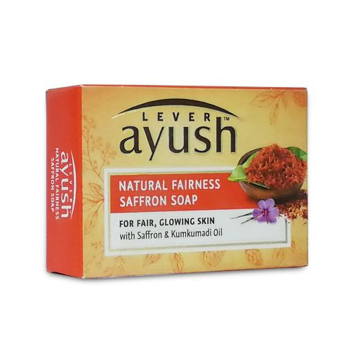 Lever Ayush Natural Fair Saffron Soap Bar 100g