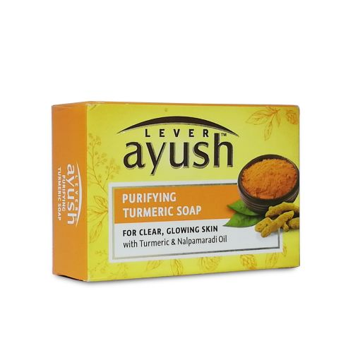 Lever Ayush Natural Purifying Turmeric Soap Bar 100g