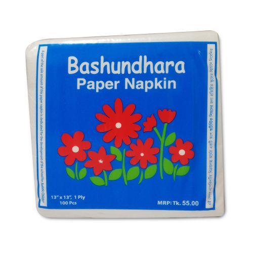 Bashundhara Paper Napkin Tissue Paper 100 Pcs
