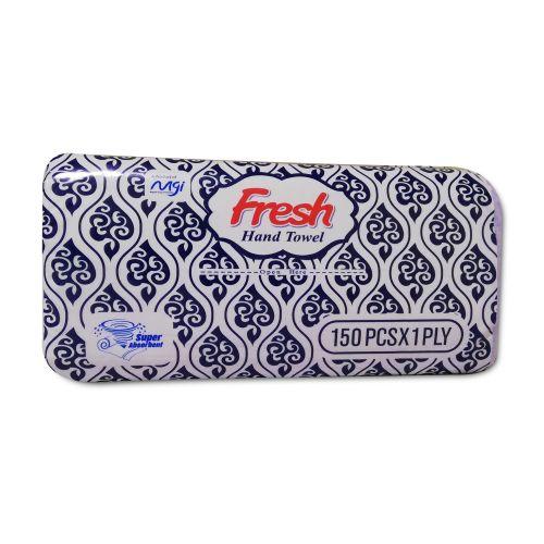 Fresh Hand Towel Blue 150 Pcs x 1 Ply