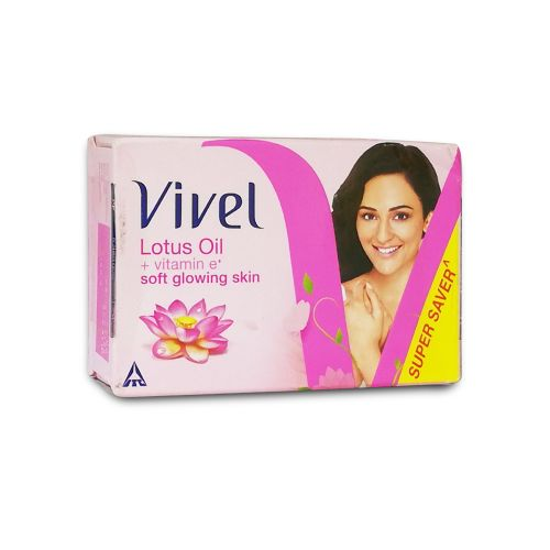 Vivel Soft Glowing Skin Lotus Oil + Vitamin E Bar Soap 100g
