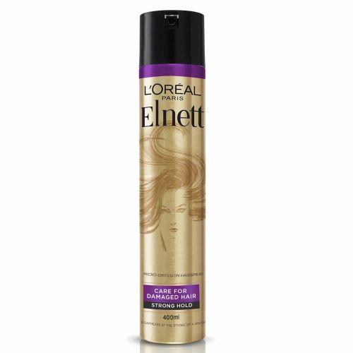 Loreal Paris Hairspray by Elnett Care For Dry Damaged Hair Strong Hold Argan Oil Shine 400ml