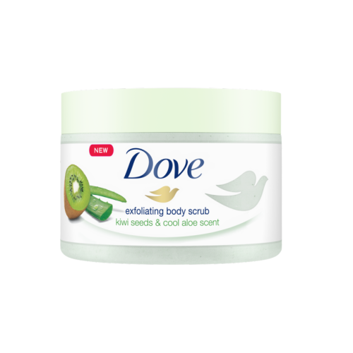 Dove Exfoliating Kiwi Seeds & Cool Aloe Body Scrub 225ml