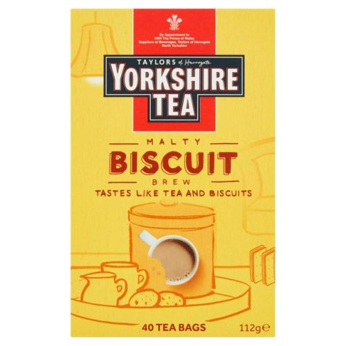 Taylors Of Harrogate Yorkshire Tea Biscuit Brew x40 Tea Bags 112g