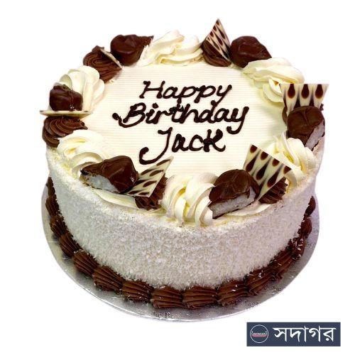 Happy Birthday Round Cake Theme 019
