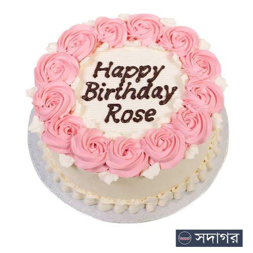 Happy Birthday Round Cake Theme 002
