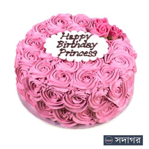 Happy Birthday Round Cake Theme 003