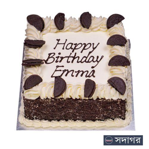 Happy Birthday Square Cake Theme 02