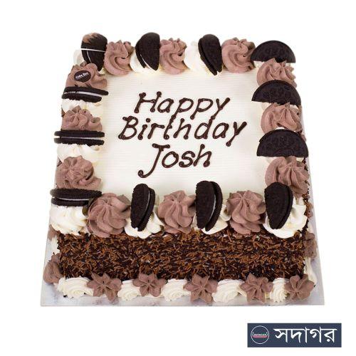 Happy Birthday Square Cake Theme 05