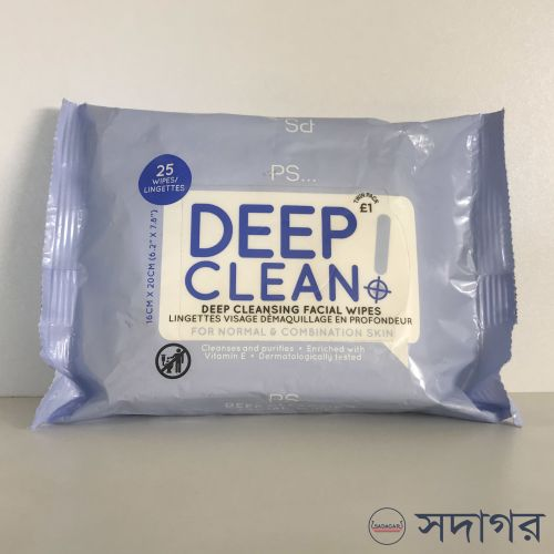 PS Deep Cleansing Facial Wipes 25wipes