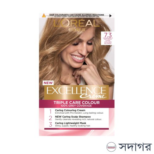 Loreal Paris Excellence Creme 7.3 Natural Dark Golden Blonde Triple Care Colour