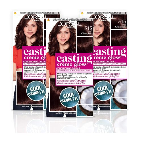 Loreal Paris Casting Creme Gloss 515 Iced Chocolate Conditioning Colour with Coconut