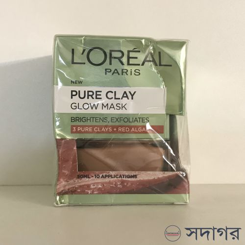 Loreal Paris Pure Clay Glow Face Mask 50ml